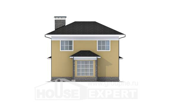 155-011-L Two Story House Plans, a simple House Online