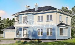 285-003-L Two Story House Plans with garage under, beautiful Custom Home Plans Online