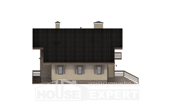 420-001-L Three Story House Plans with mansard with garage in front, best house Blueprints