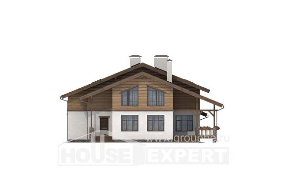 210-006-R Two Story House Plans with mansard, classic Timber Frame Houses Plans