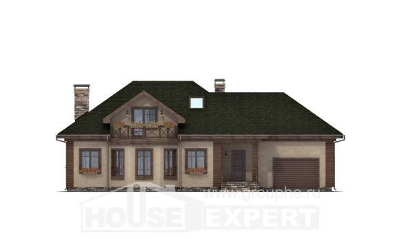 180-010-R Two Story House Plans and mansard with garage in front, a simple Woodhouses Plans