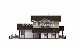 190-004-R Two Story House Plans with mansard with garage in front, best house Drawing House