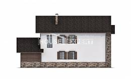 200-005-R Two Story House Plans with garage under, best house Blueprints of House Plans