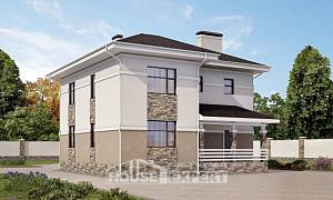 150-014-R Two Story House Plans, a simple Cottages Plans