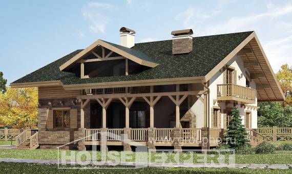 250-003-L Two Story House Plans with mansard, modern House Building