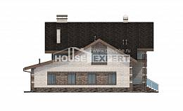 245-005-R Two Story House Plans with mansard roof with garage under, classic Architects House
