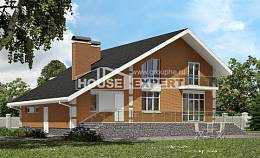190-006-R Two Story House Plans and mansard with garage in front, spacious Design House
