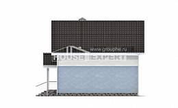 095-002-R Two Story House Plans with mansard, the budget Woodhouses Plans