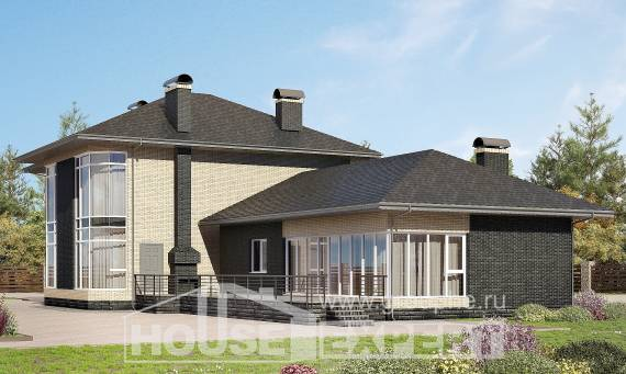 305-003-L Two Story House Plans, modern House Plans