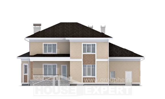335-001-L Two Story House Plans with garage under, classic Blueprints of House Plans