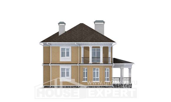 160-001-L Two Story House Plans, compact Custom Home