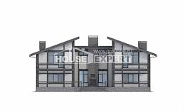 280-002-R Two Story House Plans with mansard roof, luxury Architect Plans