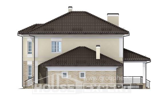220-007-R Two Story House Plans and garage, cozy House Online