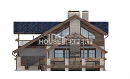 280-003-L Two Story House Plans with mansard roof with garage in back, cozy Timber Frame Houses Plans