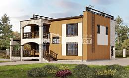 150-010-L Two Story House Plans, cozy Home House