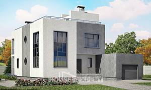 255-001-R Two Story House Plans with garage, best house Woodhouses Plans