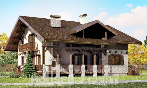 250-003-R Two Story House Plans with mansard, beautiful Home Blueprints