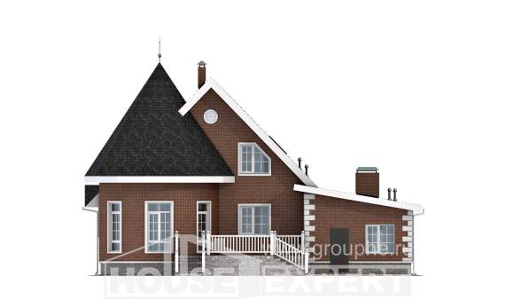 220-002-L Two Story House Plans with mansard roof with garage, spacious House Online