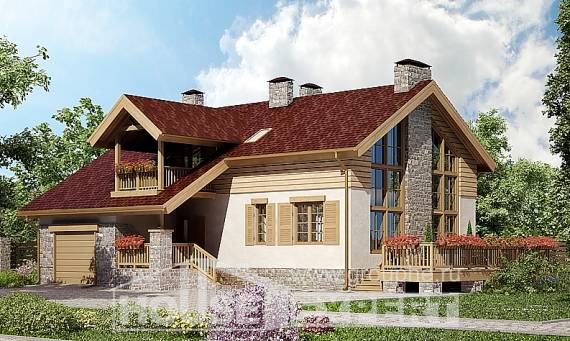 165-002-R Two Story House Plans with garage under, best house Tiny House Plans