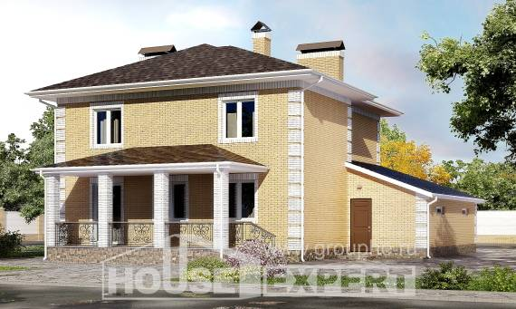 220-006-L Two Story House Plans and garage, spacious Woodhouses Plans