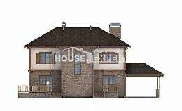 155-006-L Two Story House Plans with garage in back, a simple Plans To Build