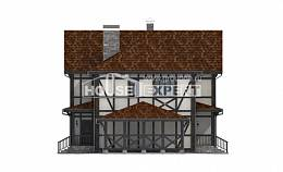 180-004-L Two Story House Plans and mansard with garage under, best house House Planes