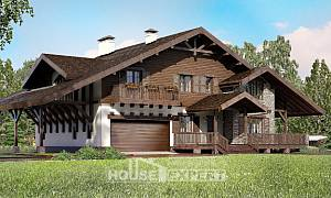 320-001-R Two Story House Plans and mansard with garage, best house Timber Frame Houses Plans
