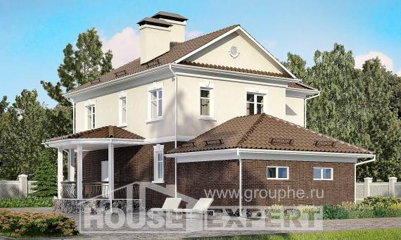190-002-L Two Story House Plans with garage, modern Custom Home Plans Online