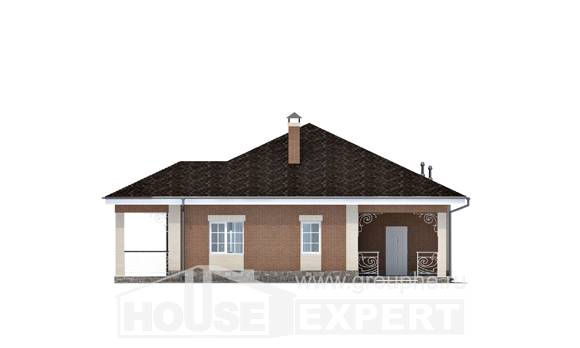 100-004-R One Story House Plans, classic Building Plan