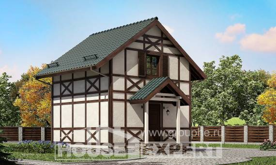 060-002-R Two Story House Plans with mansard roof, the budget Ranch