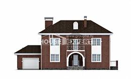 180-006-L Two Story House Plans and garage, cozy Design House