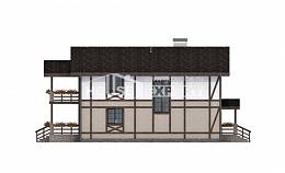 250-002-R Two Story House Plans with mansard with garage in front, best house Tiny House Plans