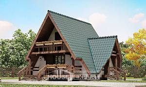 070-003-R Two Story House Plans with mansard, compact Planning And Design
