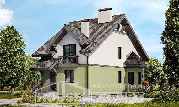 120-003-R Two Story House Plans, small Cottages Plans