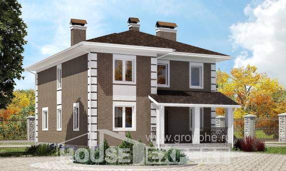 185-002-R Two Story House Plans, luxury Home Blueprints