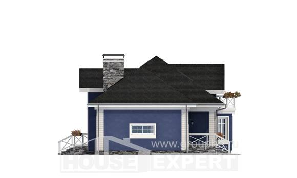 180-010-L Two Story House Plans with mansard with garage in back, average Models Plans