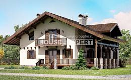 250-003-R Two Story House Plans with mansard roof, big Dream Plan
