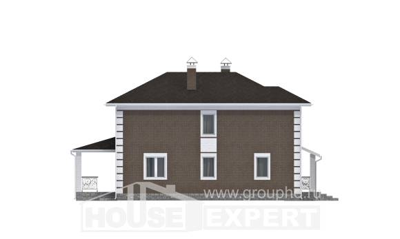 185-002-R Two Story House Plans, classic Design House