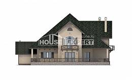 350-001-R Two Story House Plans with mansard with garage in back, best house Custom Home