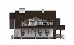 320-001-R Two Story House Plans and mansard with garage, a huge Blueprints of House Plans