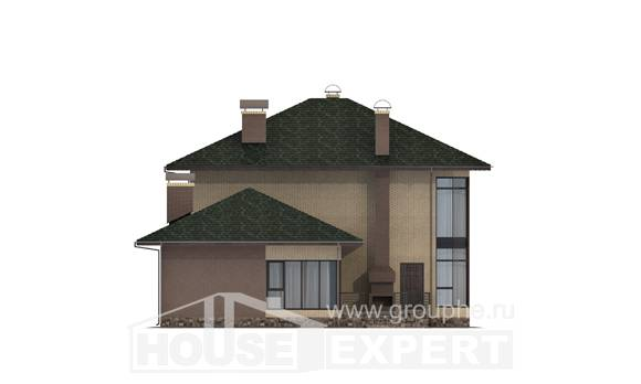 305-003-R Two Story House Plans, luxury Models Plans