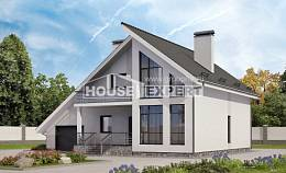 200-007-L Two Story House Plans and mansard with garage in back, cozy Custom Home Plans Online