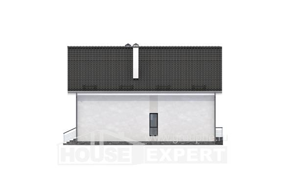 200-007-L Two Story House Plans with mansard with garage in front, best house House Planes