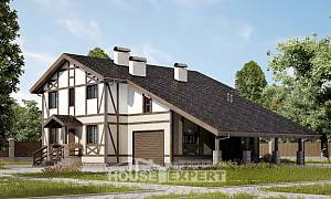 250-002-R Two Story House Plans and mansard with garage in back, beautiful Woodhouses Plans