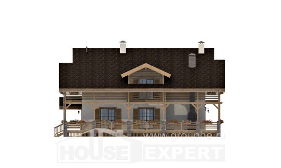 260-001-L Two Story House Plans with mansard, cozy Online Floor