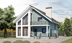 170-006-R Two Story House Plans and mansard, available Design Blueprints