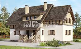 180-014-L Two Story House Plans with mansard, beautiful Architectural Plans