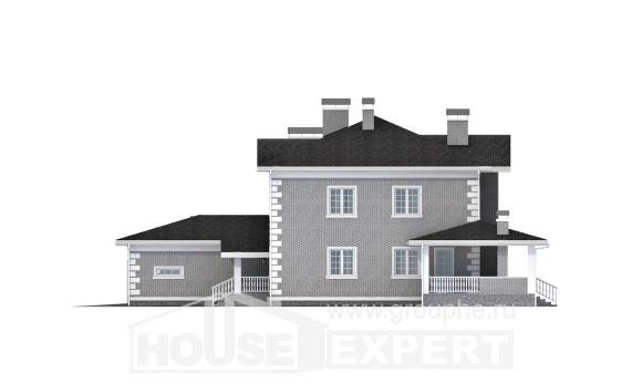 245-004-L Two Story House Plans with garage under, best house Architectural Plans