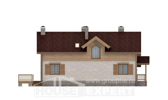 165-002-R Two Story House Plans with garage in back, cozy Drawing House