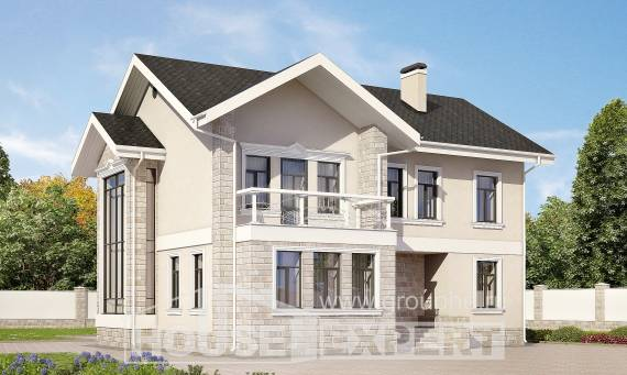 170-008-L Two Story House Plans, modest Home Blueprints